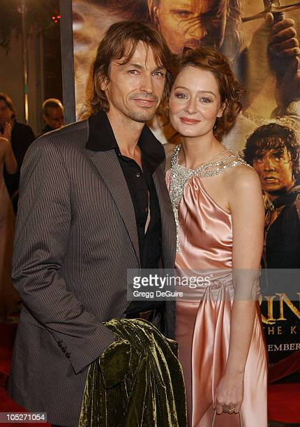 Peter O'Brien and Miranda Otto during The Lord Of The RingsThe Return Of The King Los Angeles Premiere at Mann Village Theatre in Westwood California...
