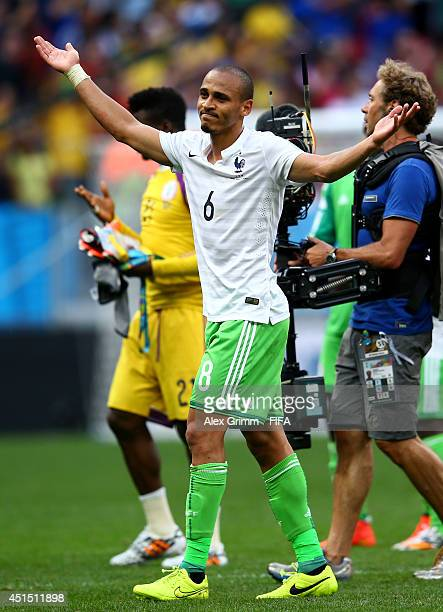 Peter Odemwingie of Nigeria reacts after the 02 defeat in the 2014 FIFA World Cup Brazil Round of 16 match between France and Nigeria at Estadio...