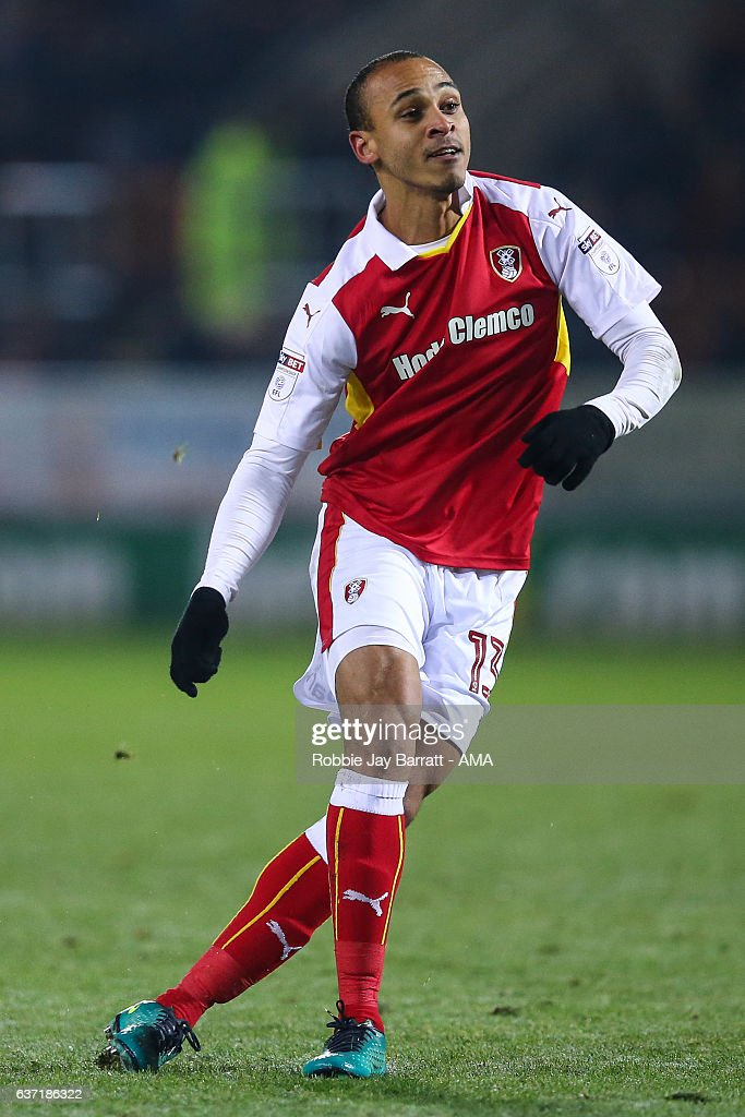 Peter Odemwingie of Rotherham United during the Sky Bet Championship match between Rotherham United and Burton Albion at The New York Stadium on December 29, 2016 in Rotherham, England.