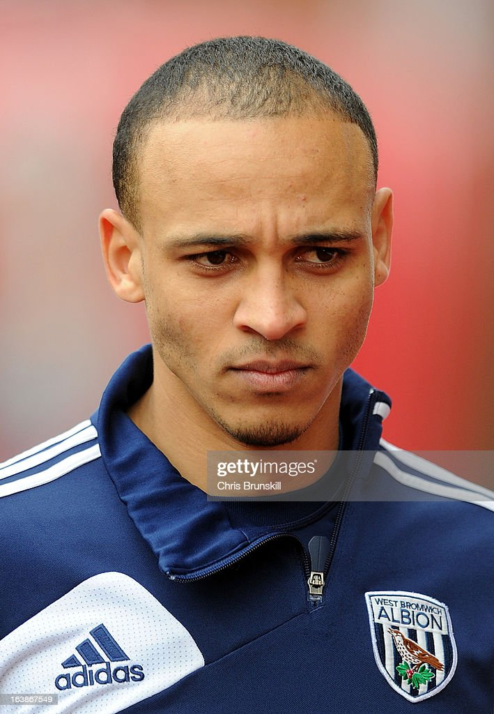 Peter Odemwingie of West Bromwich Albion looks on during the Barclays Premier League match between Stoke City and West Bromwich Albion at Britannia Stadium on March 16, 2013 in Stoke on Trent, England.