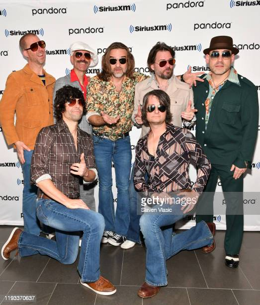 Peter Olson, Nicholas Niespodziani, Mark Cobb, Greg Lee, Mark Bencuya, Mark Dannells, and David Freeman of Yacht Rock Revue band visit SiriusXM...
