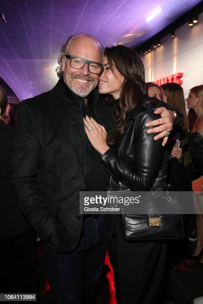 Peter Olsson and his fiance Diana Buergin during the Bunte New Faces Award Style 2018 ceremony at Spindler Klatt on November 15 2018 in Berlin Germany