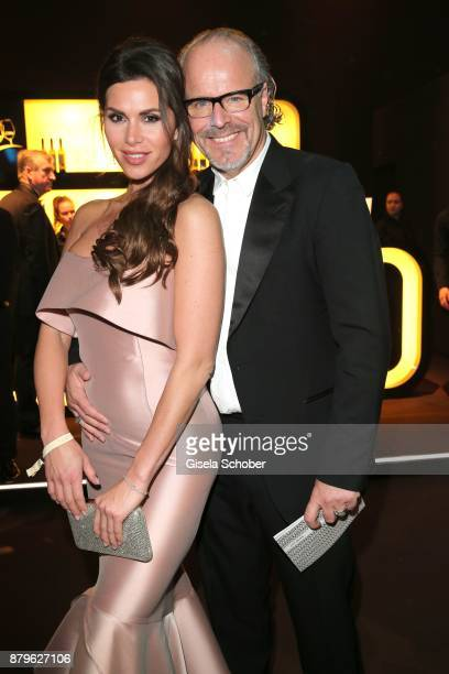 Peter Olsson and his girlfriend Diana Buergin during the Bambi Awards 2017 after party at Atrium Tower Stage Theater on November 16 2017 in Berlin...