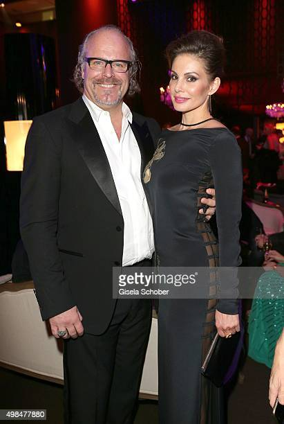 Peter Olsson and his partner during the Bambi Awards 2015 after show party at Stage Theater on November 12 2015 in Berlin Germany