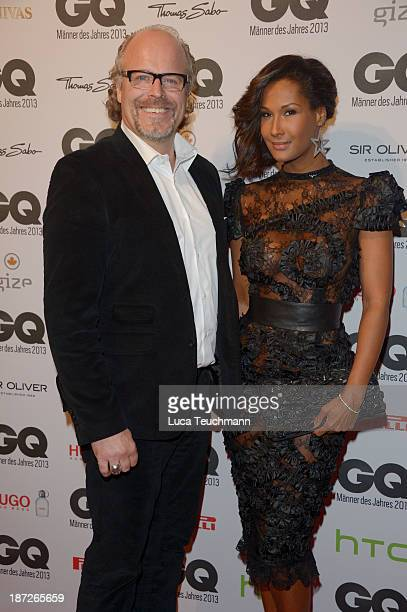 Peter Olsson and Marie Amière arrive at the GQ Men of the Year Award at Komische Oper on November 7 2013 in Berlin Germany