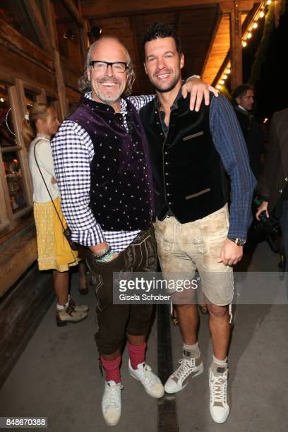 Peter Olsson and Michael Ballack during the 'Almauftrieb' as part of the Oktoberfest 2017 at Kaeferschaenke Tent on September 17 2016 in Munich...