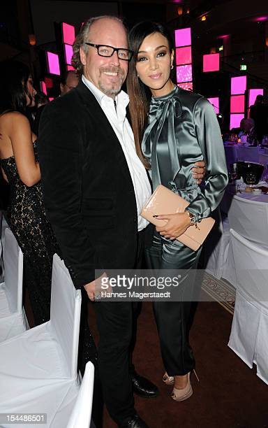 Peter Olsson and Verona Pooth attend the Audi Generation Award 2012 at Hotel Bayerischer Hof on October 20 2012 in Munich Germany