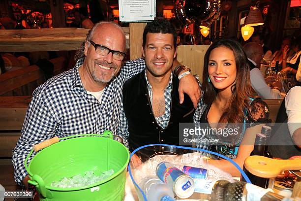 Peter Olsson Michael Ballack and his girlfriend Natascha Tannous during the 'Almauftrieb' as part of the Oktoberfest 2016 at Kaeferschaenke beer tent...