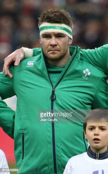 Peter O'Mahony of Ireland during the NatWest 6 Nations match between France and Ireland at Stade de France on February 3 2018 in SaintDenis near...