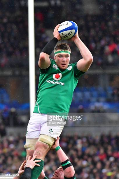 Peter O'Mahony of Ireland during the RBS Six Nations match between France and Ireland at Stade de France on February 3 2018 in Paris France