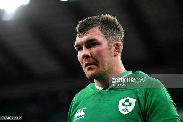 Peter O'Mahony of Ireland looks dejected following his sides defeat in the 2020 Guinness Six Nations match between England and Ireland at Twickenham...