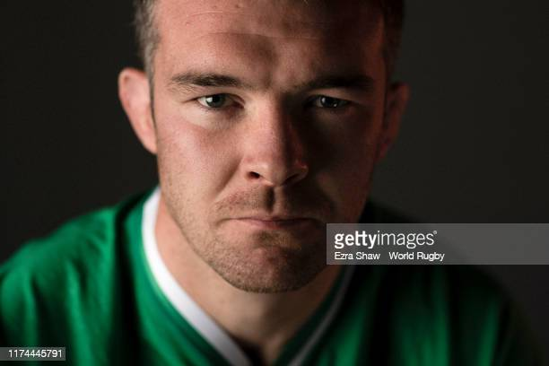Peter O'Mahony of Ireland poses for a portrait during the Ireland Rugby World Cup 2019 squad photo call on September 13, 2019 in Chiba, Japan.