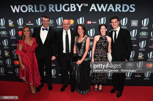 Peter O'Mahony , Rory Best , Johnny Sexton and guests attend the World Rugby via Getty Images Awards 2018 at the Monte-Carlo Sporting Club on...