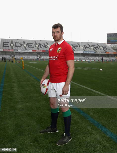 Peter O'Mahony, who will captain the British & Irish Lions in the first test against the New Zealand All Blacks poses at Eden Park on June 23, 2017...