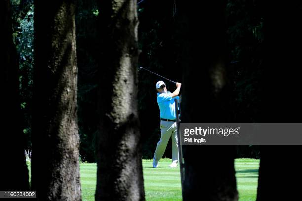 Peter O'Malley of Australia in action during the first round of the Swiss Seniors Open played at Golf Club Bad Ragaz on July 05, 2019 in Bad Ragaz,...