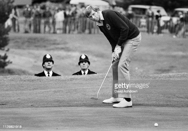 Peter Oosterhuis during the PGA championships at Wentworth Club, Virginia Water, Surrey 1982.