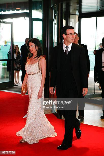 Peter Orszag director of the Office of Management and Budget arrives with fiance Bianna Golodryga at the White House Correspondents' Association...