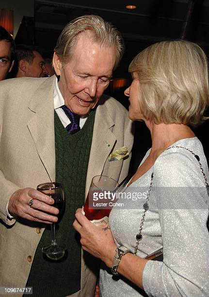 Peter O'Toole and Helen Mirren during Miramax Films and British Fragrance House Jo Malone Join to Celebrate 2007 OscarNominated Films The Queen and...