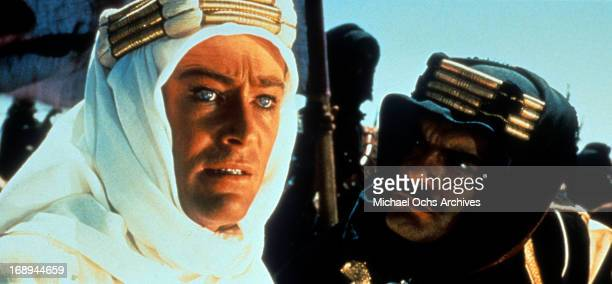 Peter O'Toole and Omar Sharif in a scene from the film 'Lawrence Of Arabia', 1962.