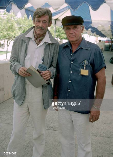 Peter O'Toole and Rod Steiger during 33rd Annual Emmy Awards Rehearsals at Pasadena Civic Center in Pasadena, CA, United States.