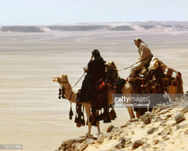 Peter O'Toole as TE Lawrence and Omar Sharif as Sherif Ali in the biopic film 'Lawrence of Arabia' 1962