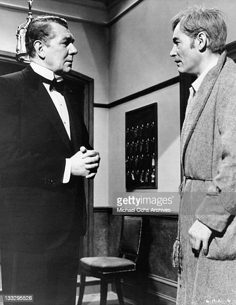 Peter O'Toole is awakened by Sir Michael Redgrave in a scene from the film 'Goodbye Mr Chips' 1969