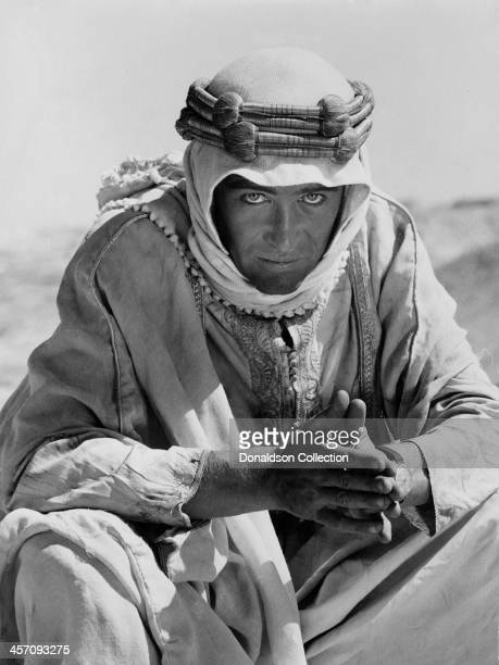 Peter O'Toole poses for a portrait for the film 'Lawrence of Arabia' released in 1962.