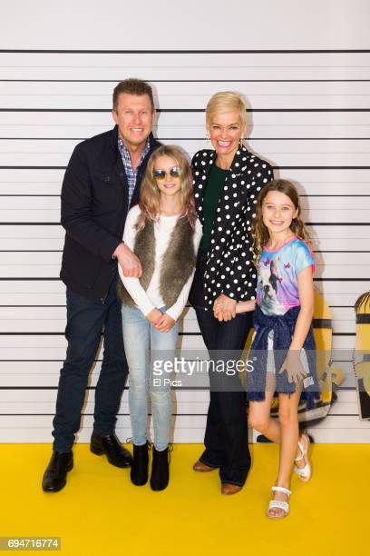 Peter Overton Jessica Rowe and children attend the Despicable Me 3 Premiere at Entertainment Quarter on June 10 2017 in Sydney Australia