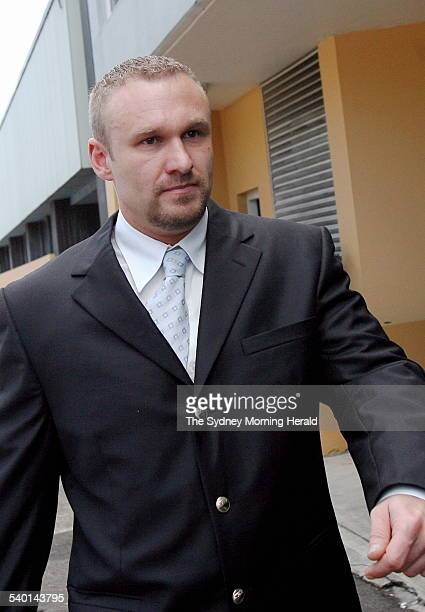 Peter Pantic arrives at Glebe Coroner's Court to give evdience at the inquest into the death of Dianne Brimble aboard a P&O cruise Ship in 2002....