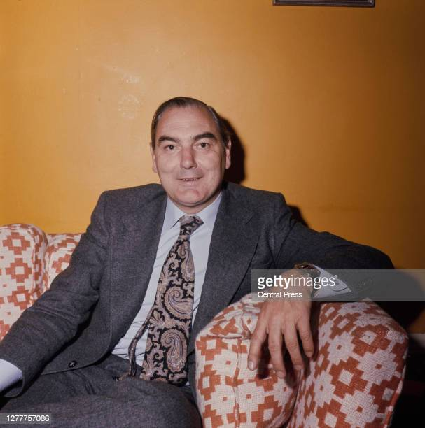 Peter Parker , the chairman of British Rail, at his home in Bayswater, London, 20th April 1976.