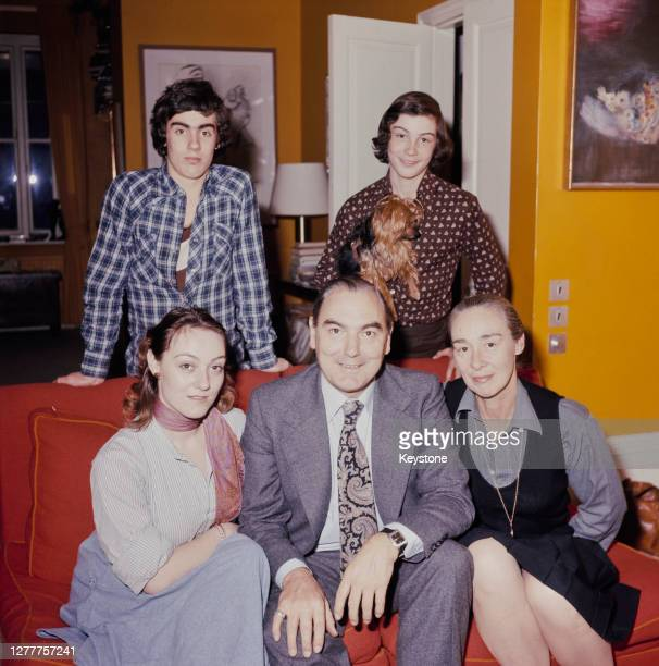 Peter Parker , the chairman of British Rail, with his wife Gillian and their children Lucy, Oliver and Nathaniel at their home in Bayswater, London,...