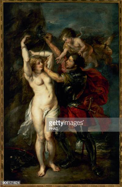 Peter Paul Rubens and Jacob Jordaens Flemish painters Perseus Freeing Andromeda 16391641 Prado Museum Madrid Spain