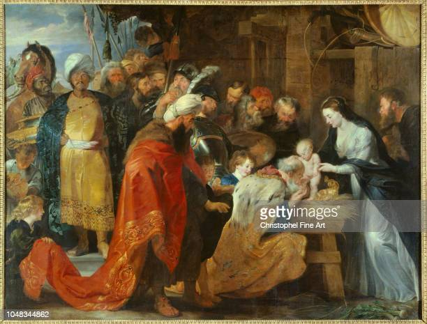 Peter Paul Rubens The Adoration of the Magi 1617 Oil on canvas 251 x 328 m Lyon Museum