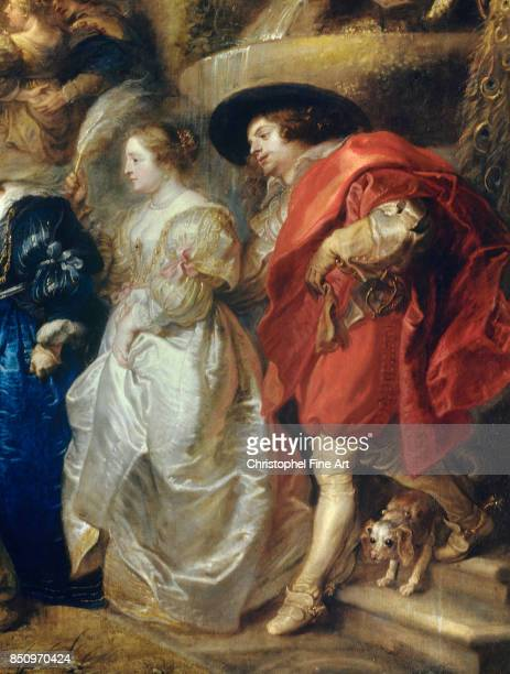 Peter Paul Rubens The Garden of Love Detail A Couple 16301635 Oil on canvas 199 x 286 m Madrid museo del Prado