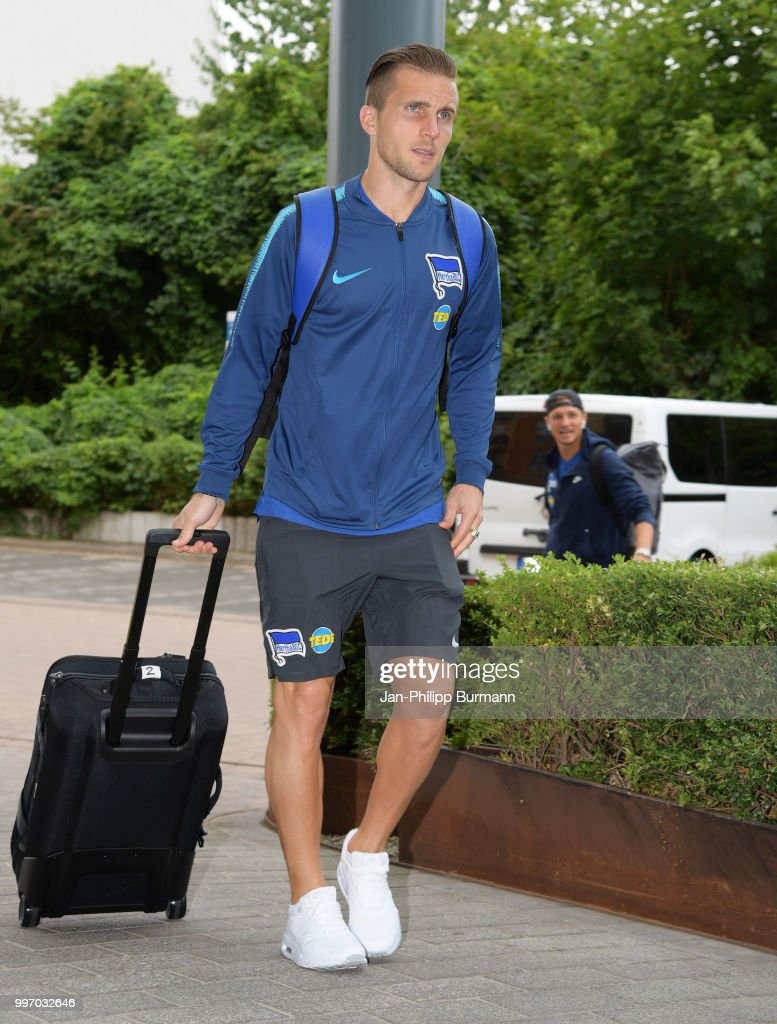 Peter Pekarik of Hertha BSC during a training camp on July 12, 2018 in Neuruppin, Germany.