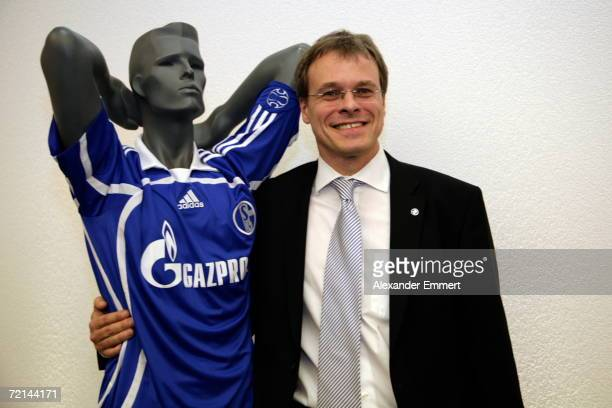 Peter Peters during a press conference about the upcoming partnership between FC Zenit St Petersburg and FC Schalke 04 at the Hotel Taschenbergpalais...