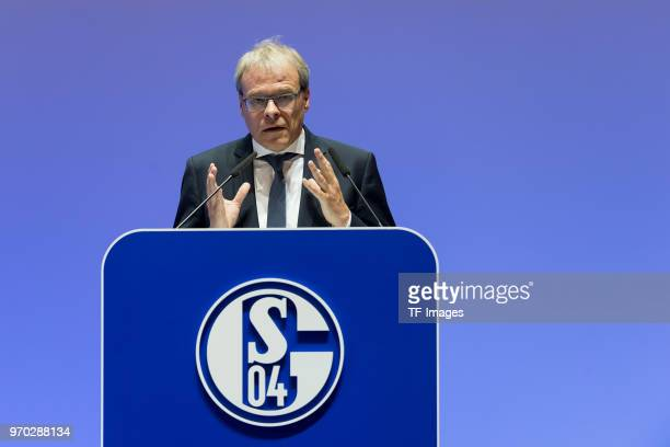 Peter Peters during the FC Schalke 04 general assembly at Veltins Arena on June 3, 2018 in Gelsenkirchen, Germany.