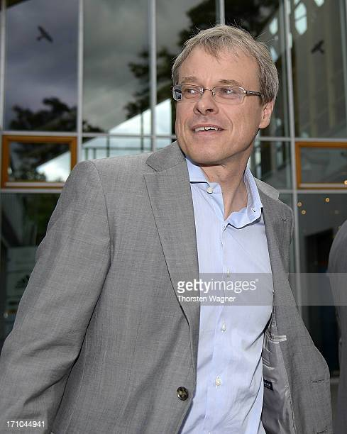 Peter Peters, member of board looks on after the DFB executive board meeting at the headquarter of German Football Association on June 21, 2013 in...