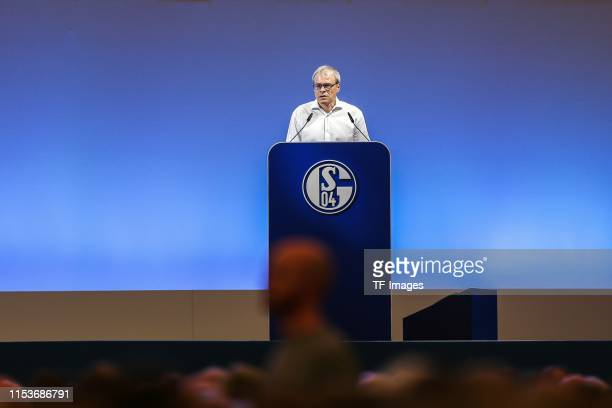Peter Peters of FC Schalke 04 looks on during the FC Schalke 04 annual meeting at Veltins-Arena on June 30, 2019 in Gelsenkirchen, Germany.