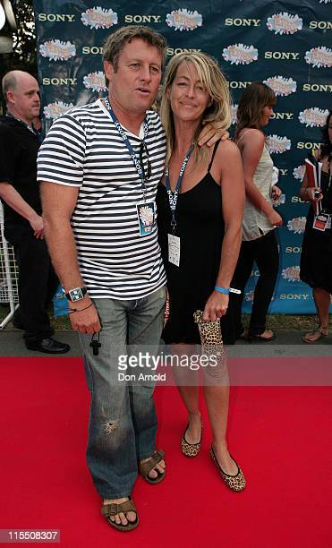 Peter Phelps and Donna Fowkes during Sony Tropfest 2007 at The Domain Royal Botanic Gardens in Sydney NSW Australia