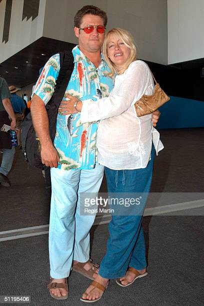 Peter Phelps and pregnant partner Donna Fowkes on the second day of the Melbourne International Music and Blues Festival at the Melbourne exhibition...
