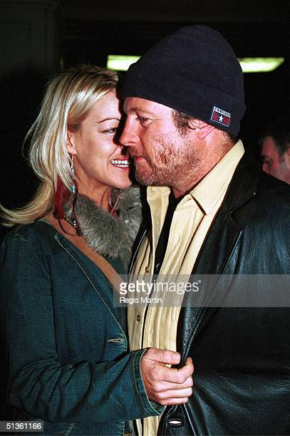 MAY 29 2002 Peter Phelps from the show Stingers and wife Donna Fowkes at 19th StKilda Film Festival at the Palais theatre Melbourne