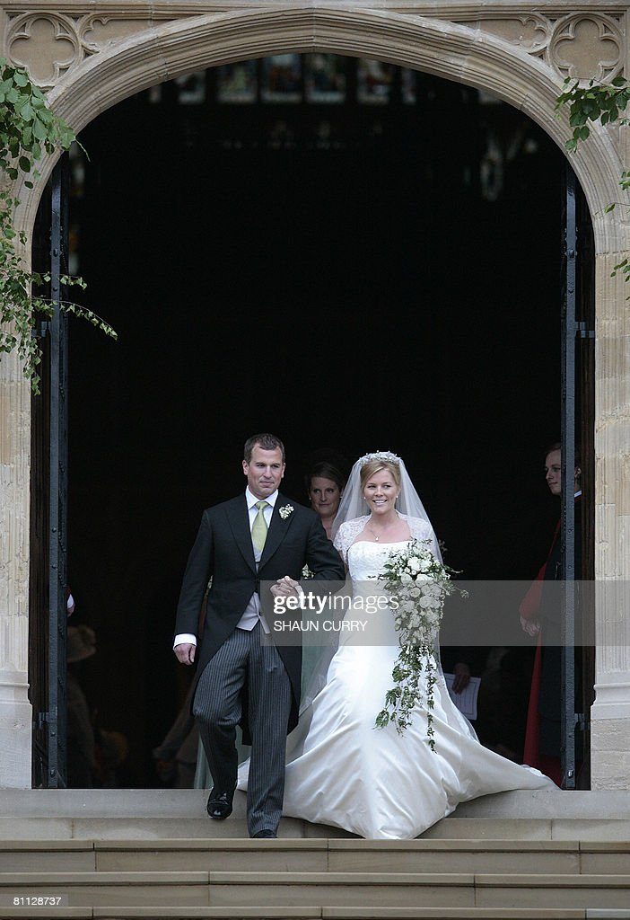 Peter Phillips 30, (L) and Autumn Kelly : News Photo