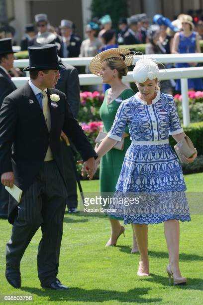 Peter Phillips and Autumn Phillips attend day 1 of Royal Ascot at Ascot Racecourse on June 20 2017 in Ascot England