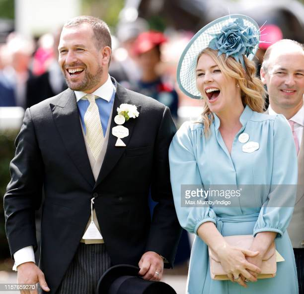 Peter Phillips and Autumn Phillips attend day five of Royal Ascot at Ascot Racecourse on June 22 2019 in Ascot England