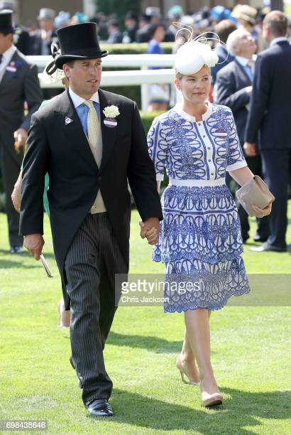 Peter Phillips and Autumn Phillips attend Royal Ascot 2017 at Ascot Racecourse on June 20 2017 in Ascot England