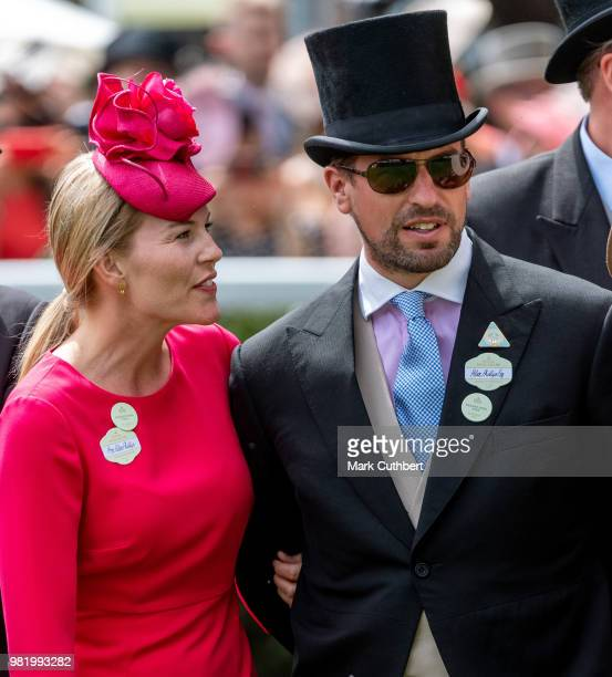 Peter Phillips and Autumn Phillips attend Royal Ascot Day 5 at Ascot Racecourse on June 23 2018 in Ascot United Kingdom
