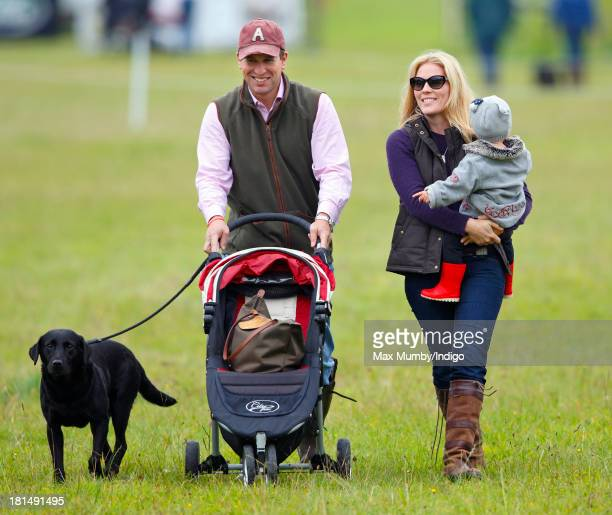 Peter Phillips and Autumn Phillips with their daughter Isla Phillips attend the Gatcombe Horse Trials at Gatcombe Park Minchinhampton on September 21...