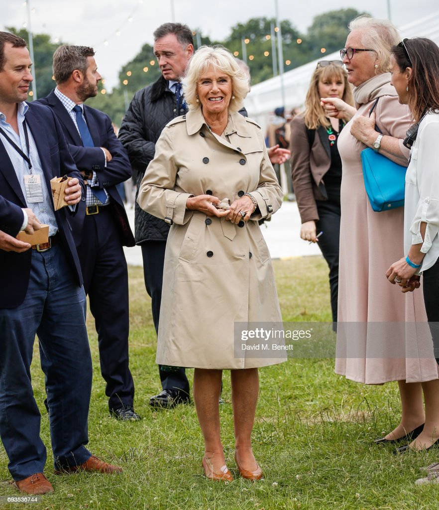 Peter Phillips and Camilla, Duchess of Cornwall attend The Bulleit Woody at London Food Month's Night Market with The London Evening Standard on June 7, 2017 in London, England.