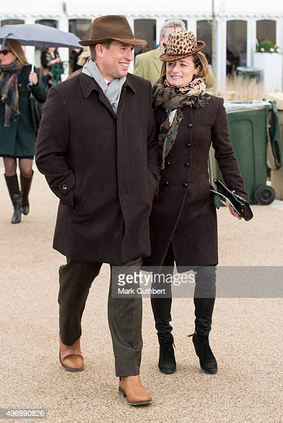 Peter Phillips and Dolly Maude at Cheltenham Racecourse on November 13 2015 in Cheltenham England